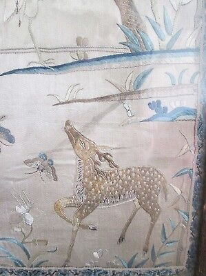 Antique 18th/19th Century Chinese Silk Embroidery. Exceptional Quality.