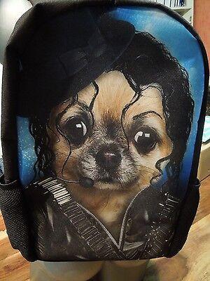 witziger 3 D Rucksack mit Chihuahua im Michael Jackson Style  ()
