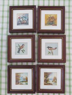 Set of 6 small pictures 14cm x 14cm Kingswood 2747 Penrith Area Preview