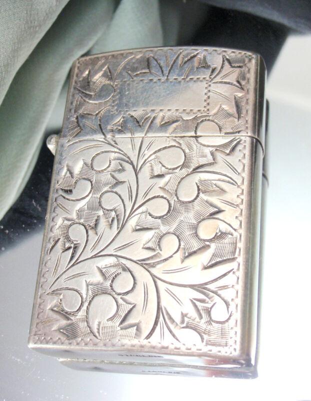 Antique Vintage Sterling Silver Cigarette Lighter