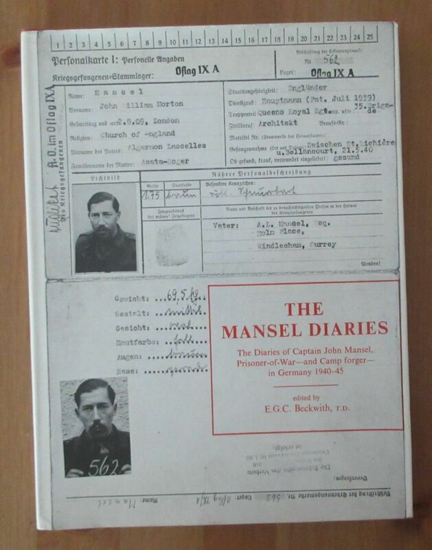 privately printed POW CAMP FORGER DIARIES BOOK oflag IX A diary mansel