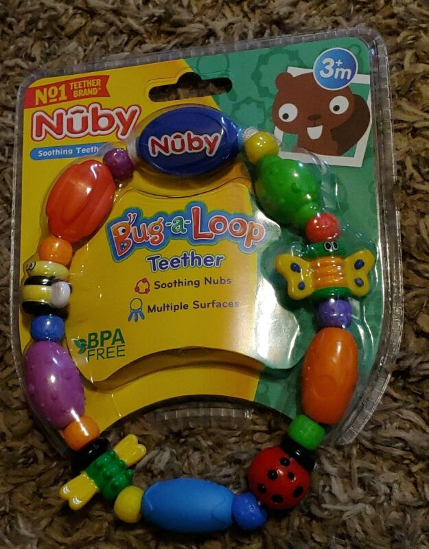 Nuby Bug-a-Loop BPA FREE Soothing Teether   3+ Months FREE SHIPPING!!