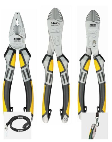 Felo Pliers Set  - Comb Pliers, Nippers, Side Cutters (63773,63781,63789,63851)