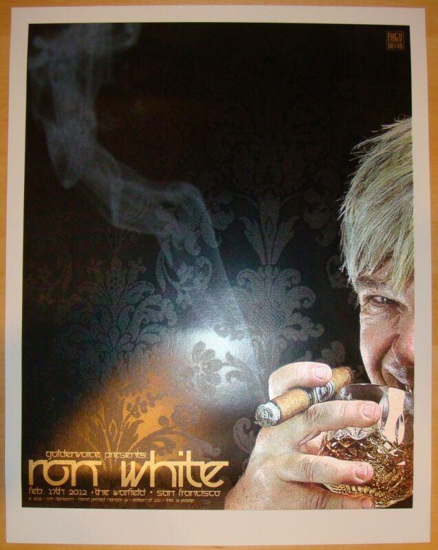 2012 Ron White - San Francisco Silkscreen Comedy Concert Poster by Ron Donovan