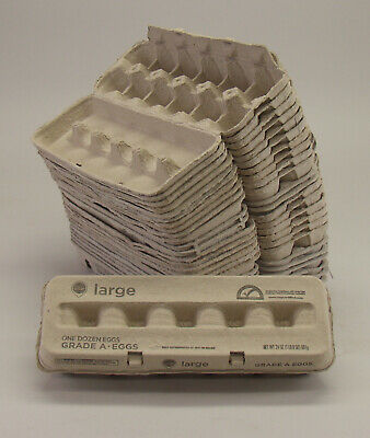 25 Pack Of 12 Count Paper Empty Egg Cartons Large. Clean