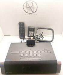 iHome iD50 iPod iPhone Bluetooth Clock AM/FM Radio Alarm Stereo Speaker W/Remote