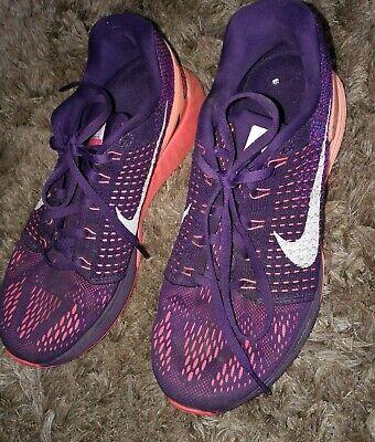 Nike Lunarglide 7 Women's RunningTrainers , UK 6 , Orange & Purple
