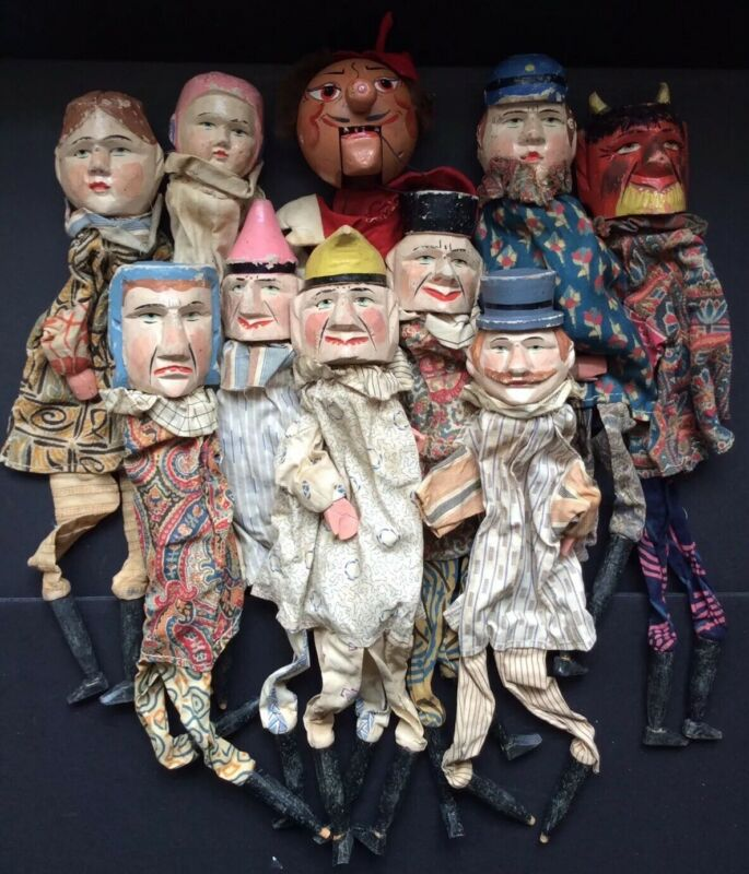 Victorian Era Punch and Judy Puppets
