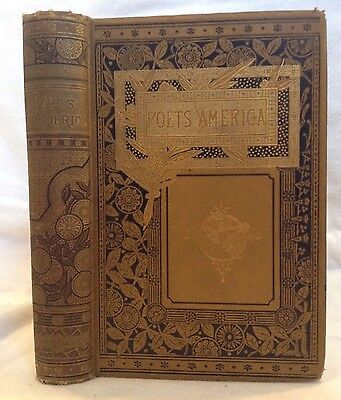 C1880 Poets Of America  Bryant  Whittier  Henry Wadsworth Longfellow  Townsend