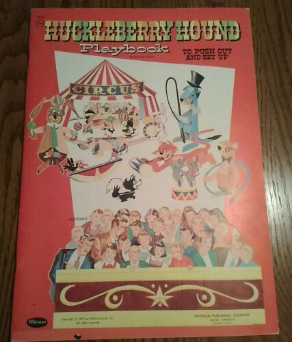 Super Rare Original 1959 Whitman Huckleberry Hound Playbook (unused near mint)