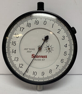 Ls Starrett Dial Indicator 656-617 With Large Dial Face