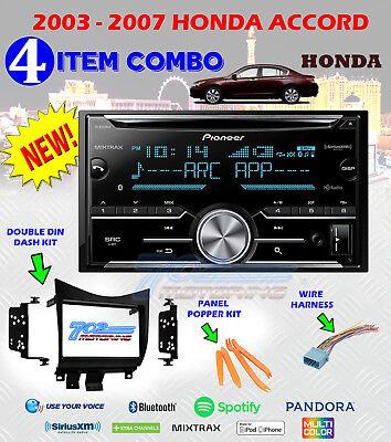 Pioneer Car Stereo CD MP3 Single Din Dash Kit w// Harness for 03-07 Honda Accord