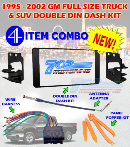 1995-2002 GM FULL SIZE TRUCK & SUV DOUBLE DIN CAR STEREO INSTALLATION DASH KIT B