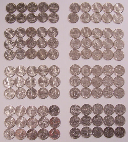 America the Beautiful 140 Quarters (2010-2019 50 P - 50 D) - (2012-2019 - 40 S)