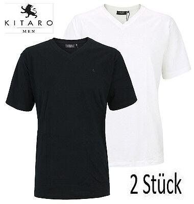 Xl Stück (KITARO Doppelpack T-Shirts XL bis 10XL Übergröße 2 Stück V-Ausschnitt)