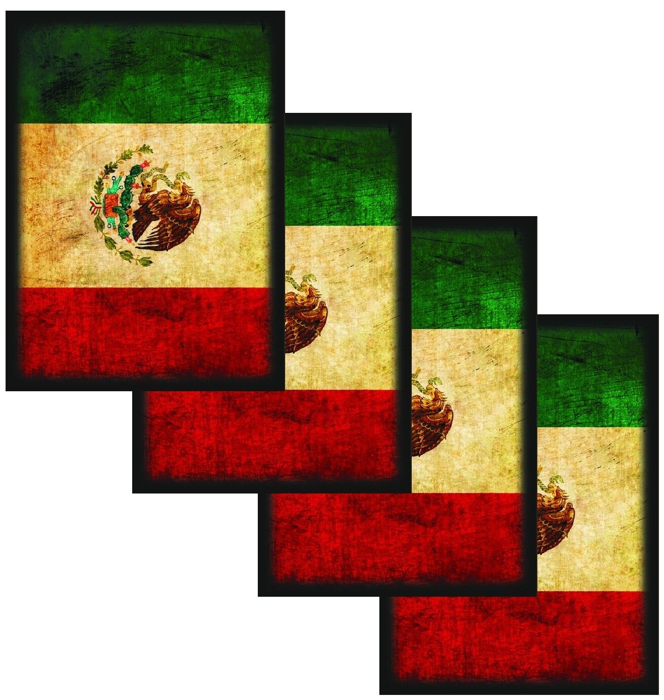 50ct Max Protection Standard Shuffle-Tech Sleeves MEXICO Flag MTG Flag Series