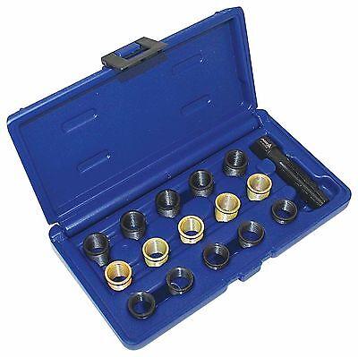 16 Piece Spark Plug Thread Repair Kit tool Suitable 14mm x 1,25 Plugs M16 TAP