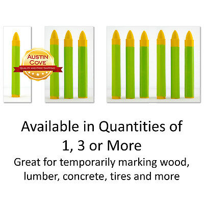Yellow Crayon (Yellow Marking Crayon - Pencil Marker for Wood Lumber Concrete Tires - Fast)