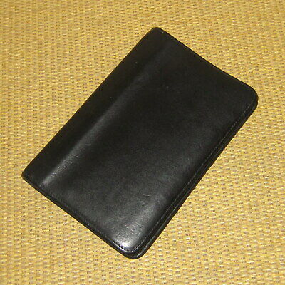 Pocket Franklin Coveyquest Black Leather .66 Rings Zip Plannerbinder