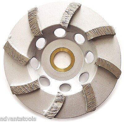 4 Spiral Diamond Turbo Cup Grinding Wheel For Concrete 8 Segs 78-58 Arbor