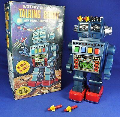 Spielzeug Roboter / Toy Talking Robot, Batterie-betrieben / battery op., 1970...