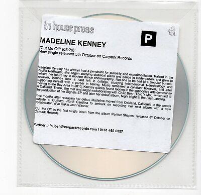 (IW471) Madeline Kenney, Cut Me Off - DJ CD