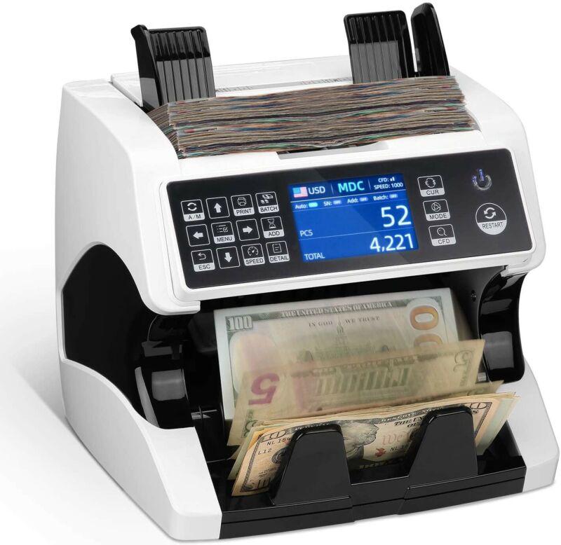 Money Counter Machine Mixed Denomination Bill Counter Counterfeit Detection