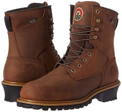 RED WING IRISH SETTER 83834 steel toe , logger boots waterproof   size 9.5 D