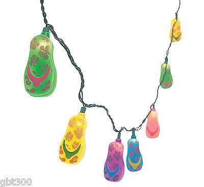 Flip Flop Party Decorations (4 Sets FLIP FLOP String Lights Luau Pool Party Decor Beach Hawaiian RV)
