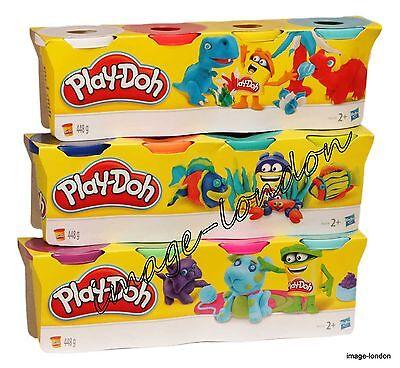 Hasbro Play-doh Play Dough 4 Tubs Classic Choice Colour Activity Clay for kids