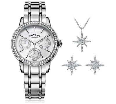 Rotary Ladies' Multi Dial Watch and Jewellery Set.