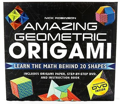 Amazing Geometric Origami Craft Kit and Book NEW asian oriental paper art escher