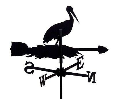 Standard Stork Metal Weathervane (Post Fixing Bracket)