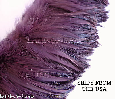 Rooster hackle feather Wholesale Amethyst strung bulk feathers  / 4-5 in long - Bulk Feathers
