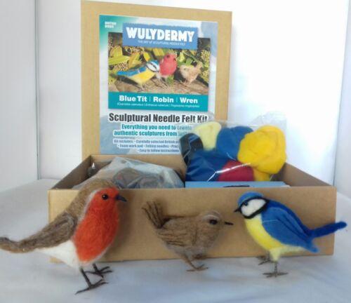Needle felting kit British Birds British wool
