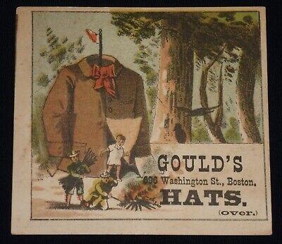 Vintage Advertising Trade Card - Gould's Hats - Boston, Massachusetts