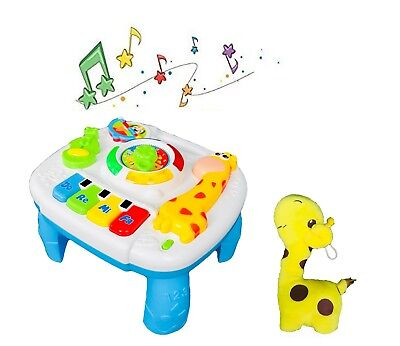 (Baby Musical Educational Activity Table and Giraffe , Activity Gift Set)