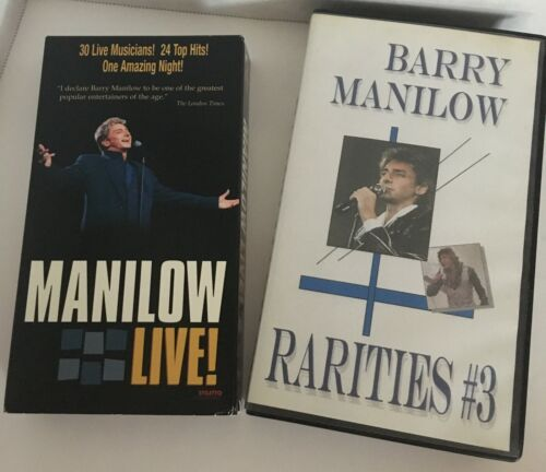 Two Barry Manilow VHS Manilow Live! & Barry Manilow Rarities #3 DF26