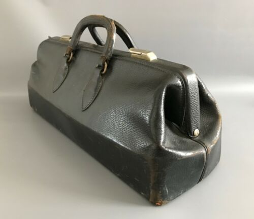 Antique Edwardian Leather Doctor's Medical Bag