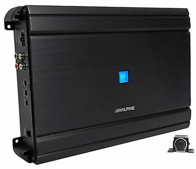 Alpine MRV-M1200 Mono 1200 Watt RMS 2-Ohm Car Audio Stereo Amplifier Amp+Remote