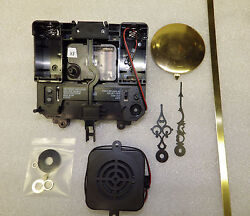 NEW Quad Chime Quartz Battery Clock Movement Tubular Bell 3/8 Dial w/ Pendulum