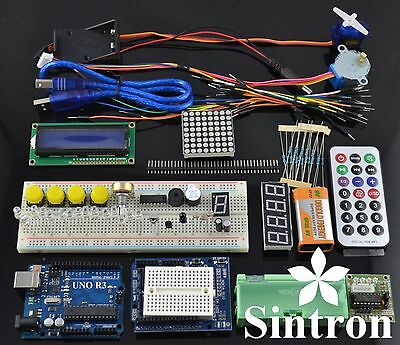 UNO R3 Starter Kit 1602 LCD Servo Motor Dot Matrix Breadboard LED for Arduino