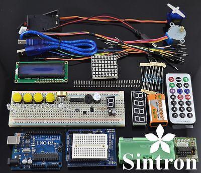 UNO R3 Starter Kit 1602 LCD Servo Motor Dot Matrix Breadboard LED for Arduino