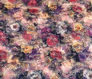 Floral Purple & Pink Stretch Lace Dress Fabric 150 cm #10PE115B