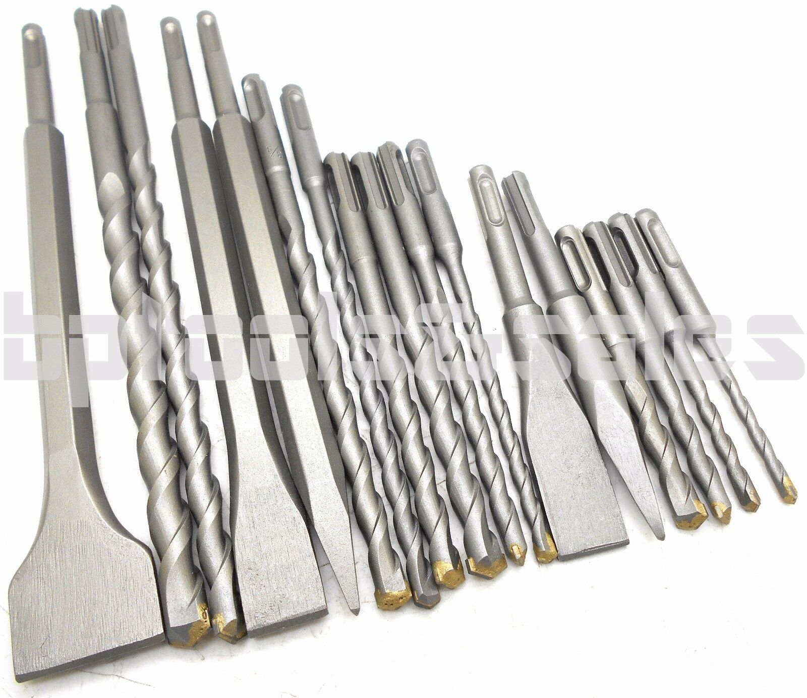 NEW 17 PC SDS PLUS ROTARY HAMMER BITS DRILL BIT & CHISEL GROOVE CONCRETE