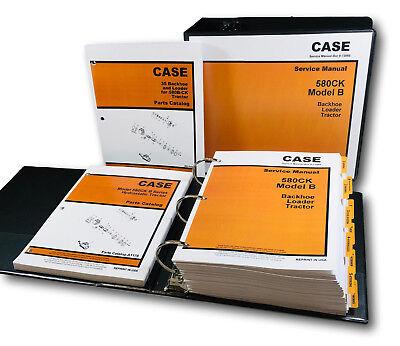 Case 580b 580ck B Hydrostatic Tractor Loader Backhoe Service Manual Parts Ctlg