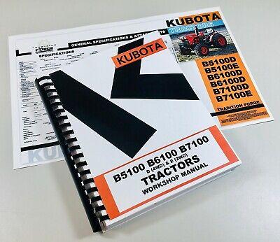 Kubota B5100 B6100 B7100 Tractor Service Manual Workshop Repair Overhaul Book