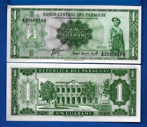 Paraguay P-193b 1 Guarani Year L.1952 Uncirculated Banknote
