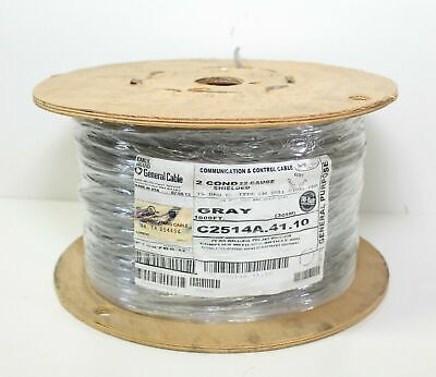 1000 General Cable C2514a.41.10 Communication Control 2c 22awg Shielded Gray