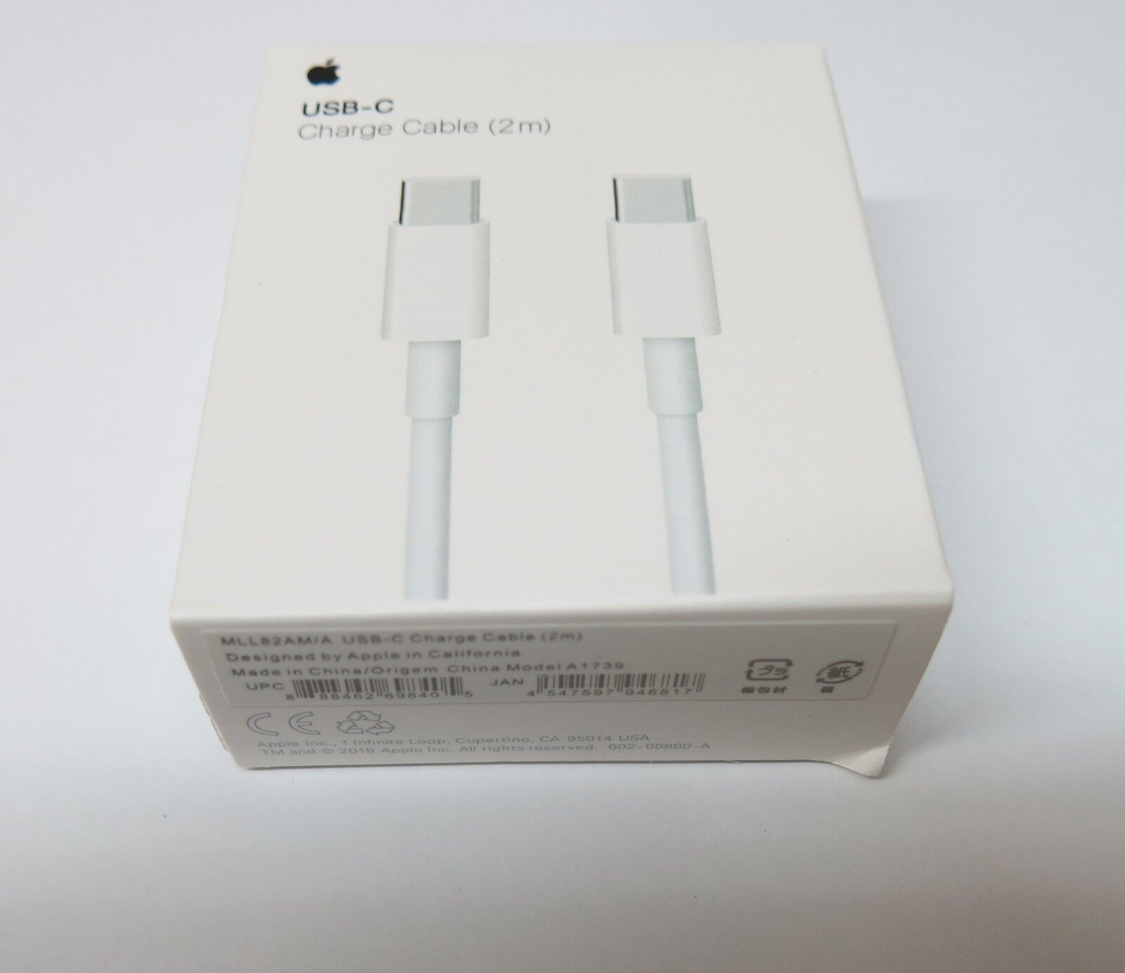 Genuine Apple MLL82AM/A USB-C Charge Cable